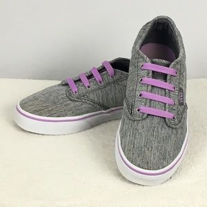 Vans Gray & Purple Girls Sneakers Sz 2